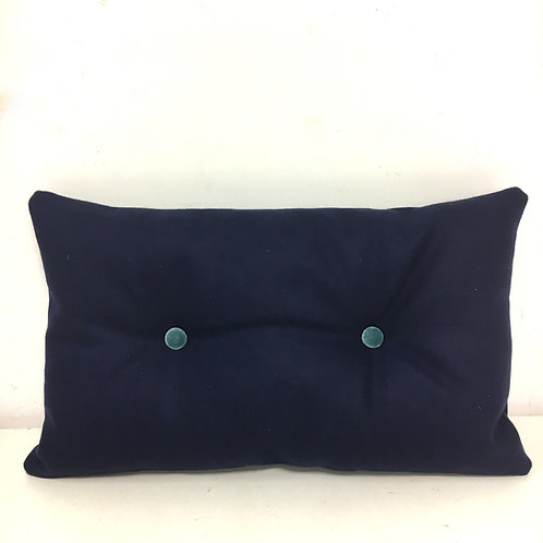Knopenkussen - donkerblauw/blauw
