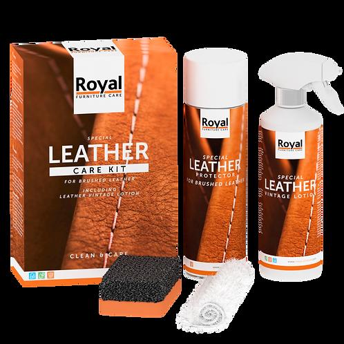 Royal furniture care - brushed leather care kit