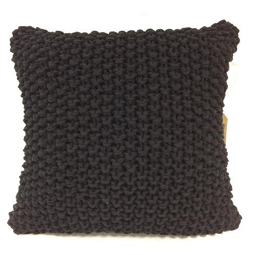 Hoookedkussen - zwart