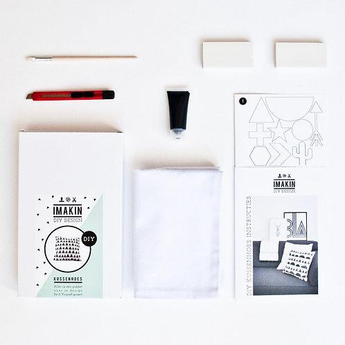 DIY pakket - kussenhoes zwart