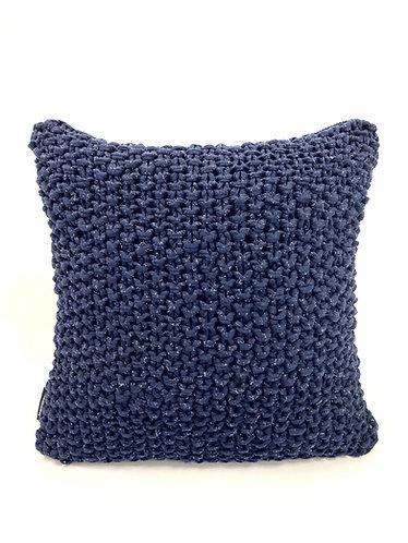 Hoookedkussen - blauw/glitter