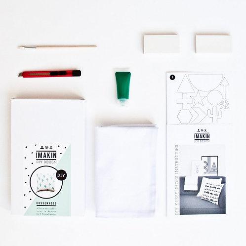 DIY pakket - kussenhoes groen