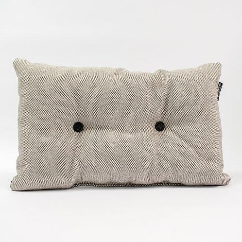 Knopenkussen - grijs/zwart