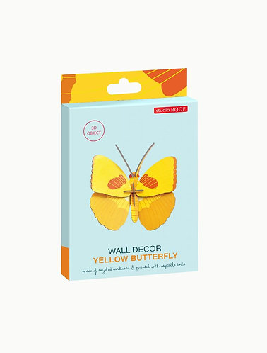 Muurdecoratie - yellow butterfly