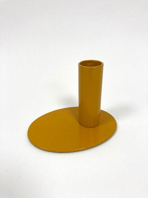Kandelaar - oker/staal