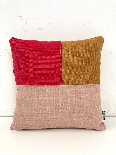 Puzzelkussen - oranje/roze/fuchsia