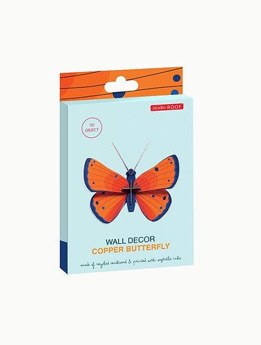Muurdecoratie - copper butterfly