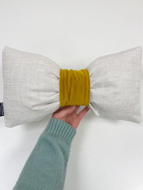 Sierkussen - strik/geel
