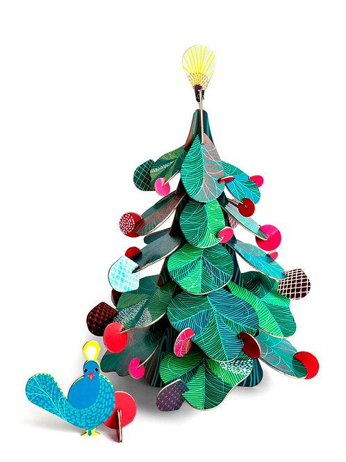 Kerstboom met pauw
