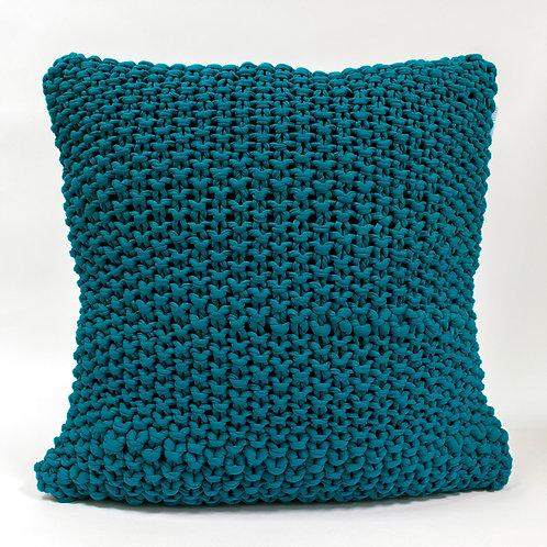 Hoookedkussen - turquoise