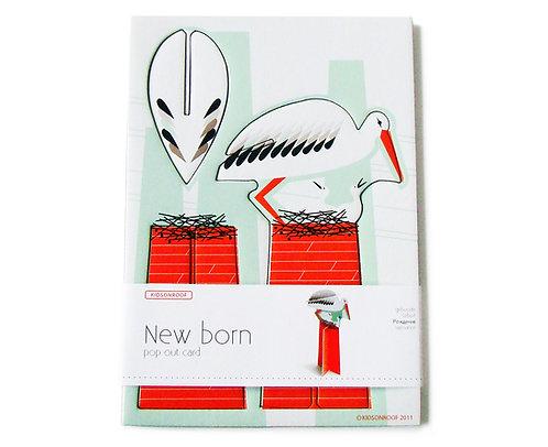 Pop out card - Stork
