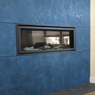 Lime Plaster Fireplace