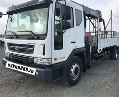 Бортовой грузовик с кму Daewoo Novus 600 т.р.