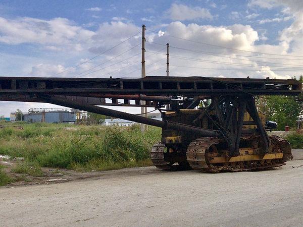 Сваебойная установка на базе трактора Т-130