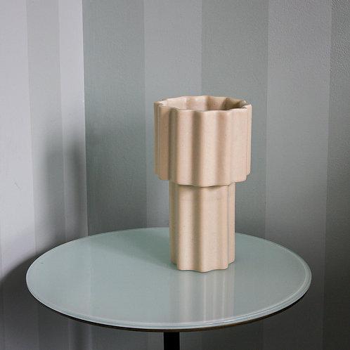 Tilde Tapered Vase - TALL - limestone