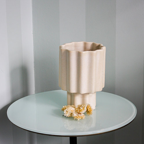 Tilde Tapered Vase REGULAR - Limestone