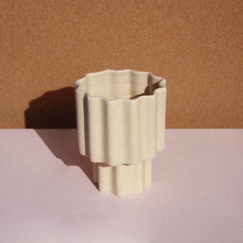 Tilde Tapered Vase SMALL - Buff