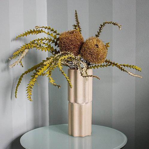 Tilde Stacked Vase SKINNY - limestone