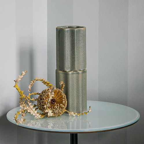 Tilde Stacked Vase SKINNY - bluegum