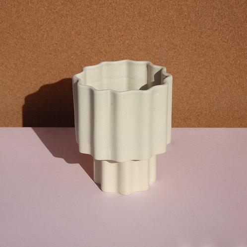 Tilde Tapered Vase SMALL - Chalk