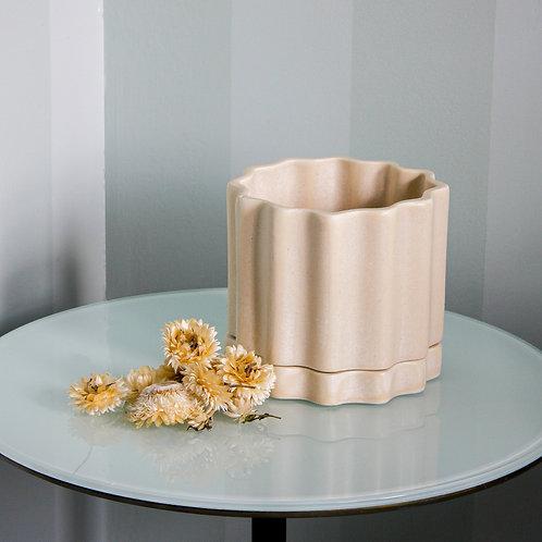 Tilde Planter MEDIUM - Limestone
