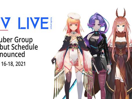 """[Press Release] US-based VTuber Group """"4V Live"""" Debut Schedule Announced"""