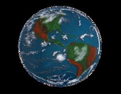 Planet Earth fused window.