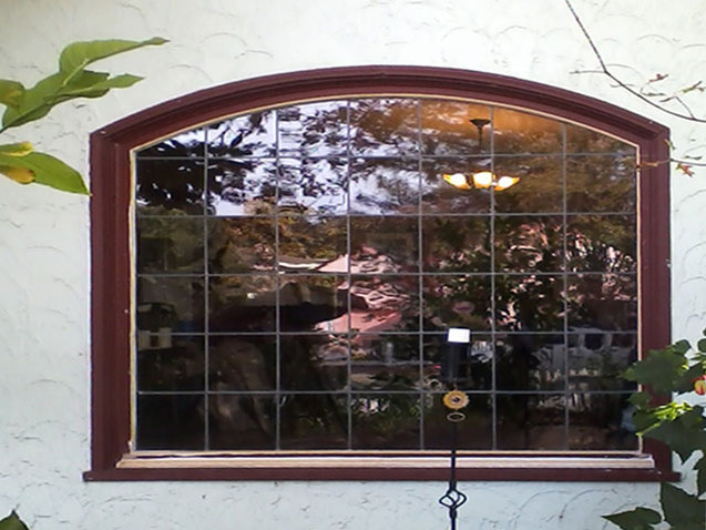 Clear Beveled Picture Windows