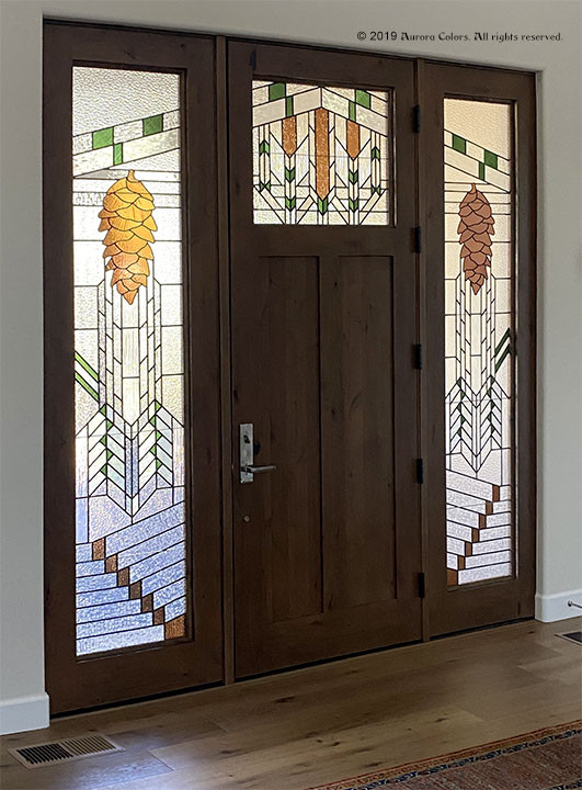 Custom Stained Glass Doors