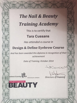 Design&Define Eyebrow Course Diploma