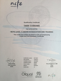 NCFE L3 Award in Education&Training