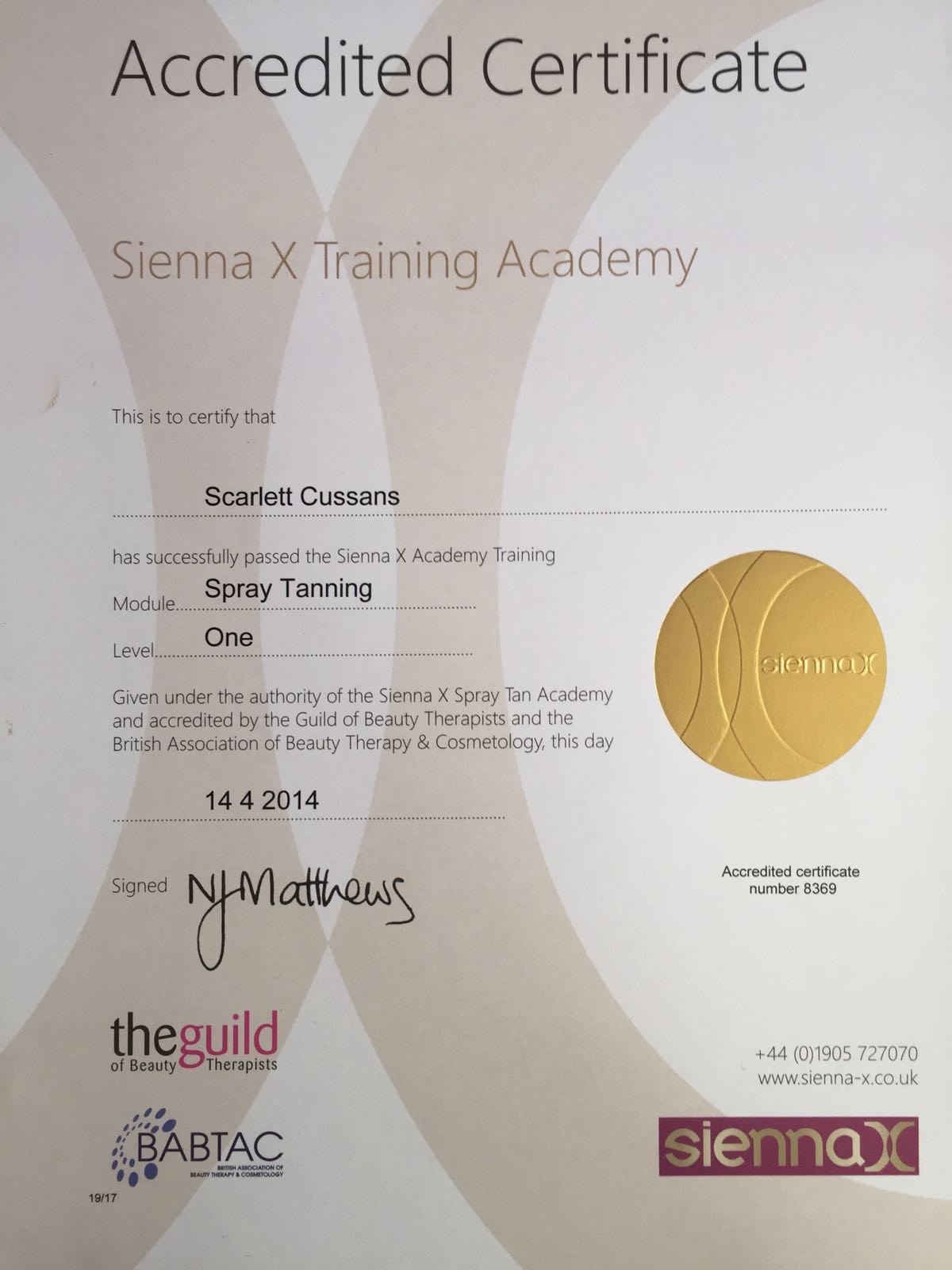 Sienna X Training Academy L1
