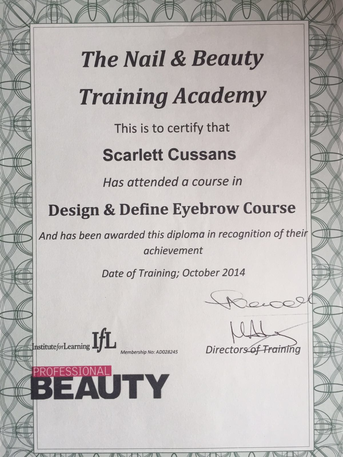 Design&Define Eyebrow Course