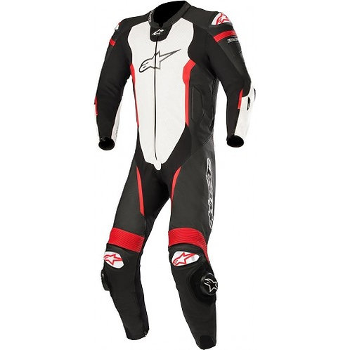 Leather Suit 1Pc Missile Tech Air Compatible black white - ALPINESTARS
