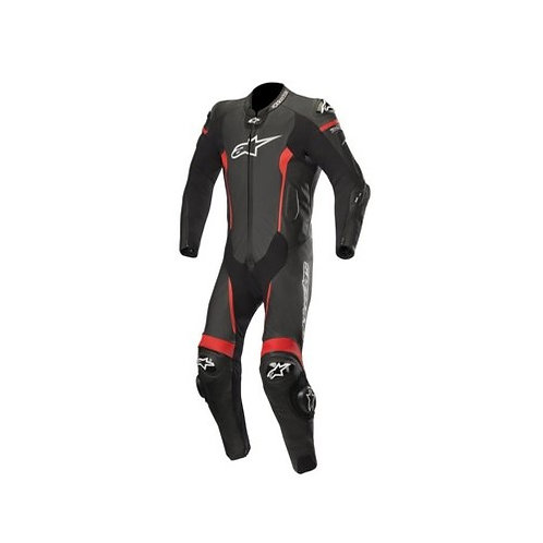 Leather Suit 1Pc Missile Tech Air Compatible black-red - ALPINESTARS