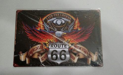 Quadro de aço Route 66