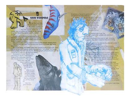 The Gentalman Jacob Gamm Mixed Media Circus of Curiosity and Disbelife. Illustration Falmouth University.