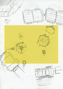Rough sketch of a campsite from a tabltop RPG game