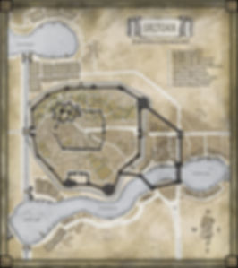 Map of Saltoan, based on the Malazan Books of the Fallen from Memories of Ice