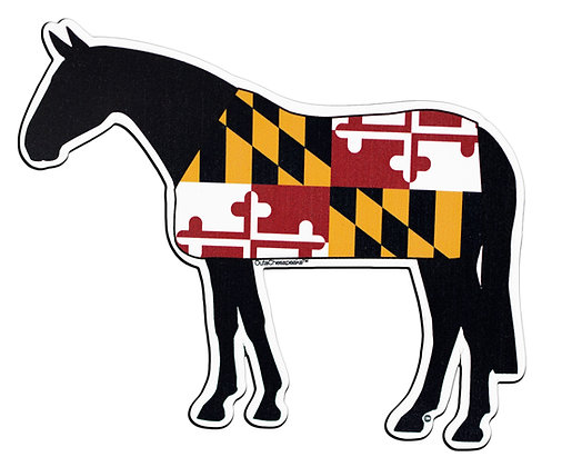 Maryland Flag Horse Magnet