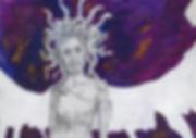 Medua the Gorgon Sketchbook Jacob Gamm Concept Art. MA Digital Games: Design and Theory Brunel University. Mixed Media. Mythology