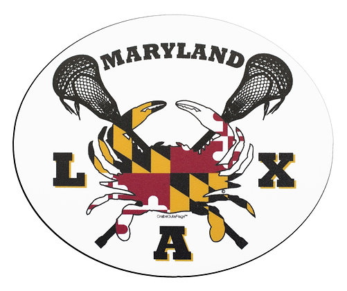 MD Flag Lax Crab Magnet (Oval)