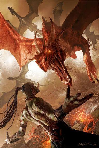 raest dragon Malazan Erikson Michael Kormack fantasy fight battle