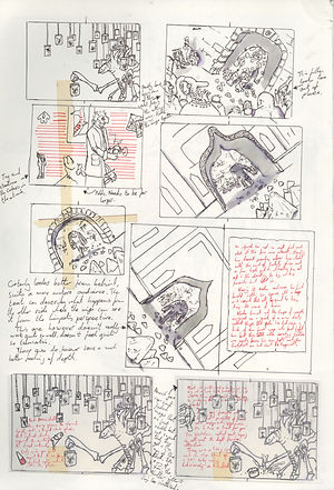 Sketchbook. jacob gamm. George and his Amazing Singing Limpets. The Circus of Curiosity and Disbelif. Thumbnails