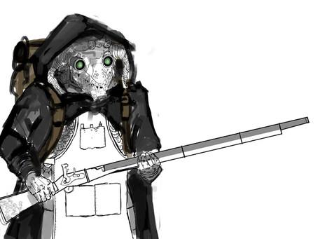 Black Dragonborn Artificer  Digital Paint