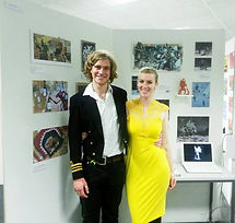 Jacob Gamm Falmouth University final show. Illustration and Concept art. Girlfriend Kathryn Simpkin