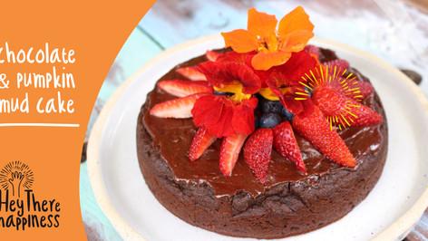 Chocolate & pumpkin mud cake