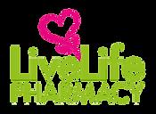 LiveLife Logo Stacked Flower Top Light B