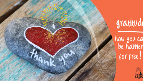 Gratitude:  How you can be happier for free!