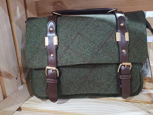 Country Green Tweed Satchel